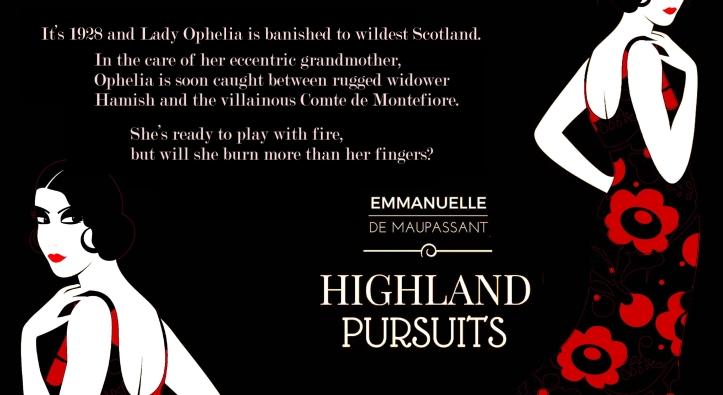 blurb promo Emmanuelle de Maupassant Highland Pursuits quote